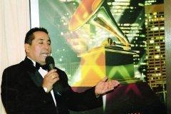 Cubriendo entrega de Los trofeos Grammy